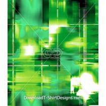 Green Abstract Check Light Blur Seamless Pattern