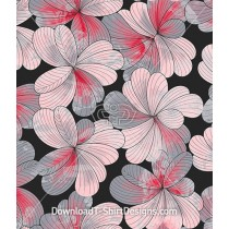 Pink Flowers Petals Abstract Seamless Pattern