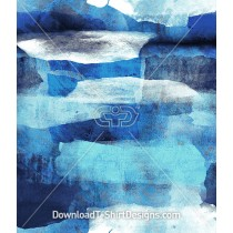 Torn Blue Watercolor Paper Effect Seamless Pattern