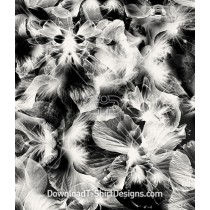 Abstract Floral Transparent X-Ray Seamless Pattern