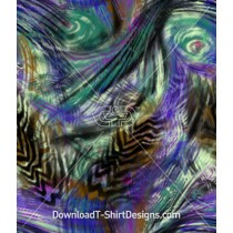 Blurred Swirling Peacock Feather Seamless Pattern