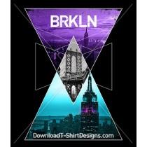Geometric Brooklyn New York City Landscape