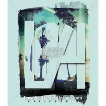 Los Angeles California Palm Tree Beach
