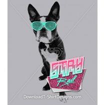 Retro 80's Bulldog Animal Glasses