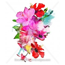 Elegant Floral Female Portrait Collage