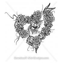 Illustrated Rose Thorn Heart