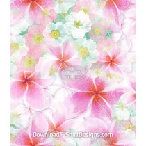Soft Pastel Frangipani Flower Seamless Pattern