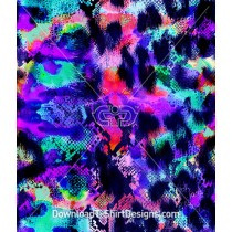 Neon Color Abstract Snake Skin Seamless Pattern