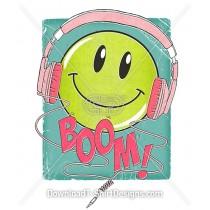 Retro Emoji Comic Smiley Face Headphones
