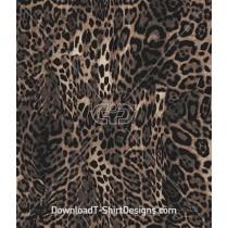Warped Leopard Skin Seamless Pattern