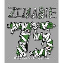 Zombie 75 Bones Skeleton Eyeballs Bandages