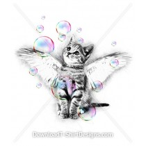 Angel Kitten Holographic Bubbles