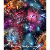 Abstract Space Galaxy Geometric Seamless Pattern