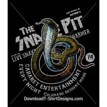 Vintage Cobra Skull Snake Rock Music