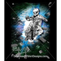 Crypt Crasher Skeleton BMX Bike Rider