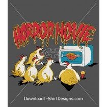 Horror Movie Comic Chickens