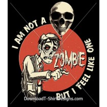 Zombie Skull Balloon Slogan Quote Retro Typography