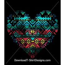 Tribal Aztec Pattern Heart