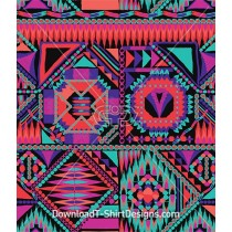Bright Tribal Ethnic Geometric Seamless Pattern