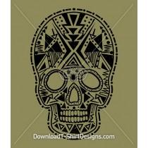 Tribal Aztec Pattern Skull