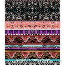 Hand Drawn Ethnic Tribal Stripe Seamless Pattern