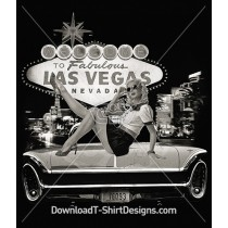 Retro 50's Neon Sign Las Vegas Pin Up Girl