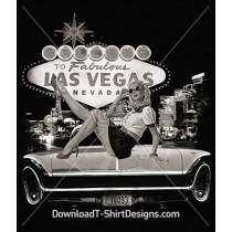 Retro 50's Neon Sign Las Vegas Pin Up Girl