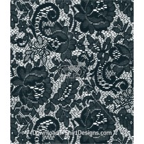 Lace Flowers Leaves Rose Seamless Pattern