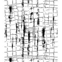Cracked Brick Line Square Seamless Pattern