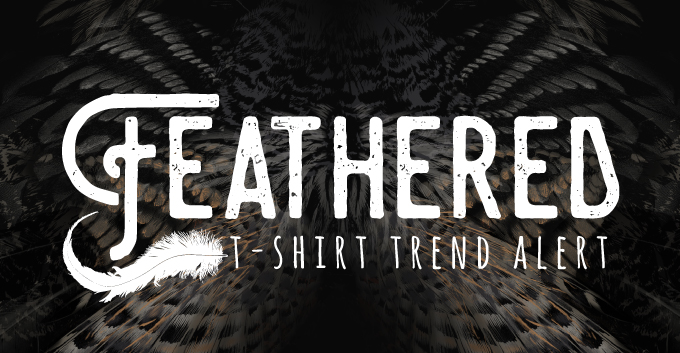 T-Shirt Print Trend - Feathered