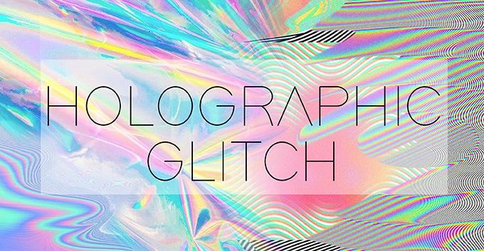 T-Shirt Design Trend - Holographic Glitch